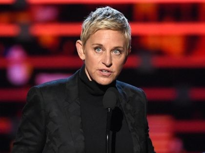 LOS ANGELES, CA - JANUARY 06: TV personality Ellen DeGeneres accepts Favorite Daytime TV Host award onstage during the People's Choice Awards 2016 at Microsoft Theater on January 6, 2016 in Los Angeles, California. (Photo by Kevin Winter/Getty Images)
