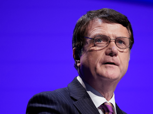 BIRMINGHAM, ENGLAND - SEPTEMBER 21: UKIP leader Gerard Batten MEP addresses delegates during the UKIP annual conference at the International Convention Centre on September 21, 2018 in Birmingham, England. (Photo by Christopher Furlong/Getty Images)
