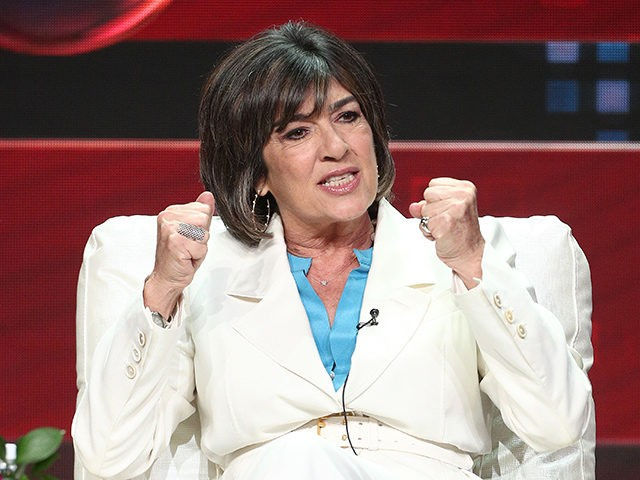 BEVERLY HILLS, CA - JULY 30: Christiane Amanpour of the television show Amanpour & Co., speaks during the PBS segment of the Summer 2018 Television Critics Association Press Tour at the Beverly Hilton Hotel, on July 30, 2018 in Beverly Hills, California. (Photo by Frederick M. Brown/Getty Images)