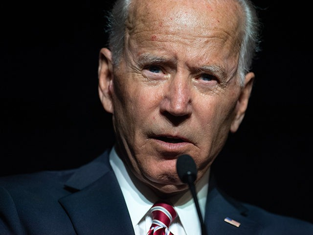 Former US Vice President Joe Biden speaks during the First State Democratic Dinner in Dover, Delaware, on March 16, 2019. (Photo by SAUL LOEB / AFP) (Photo credit should read SAUL LOEB/AFP/Getty Images)
