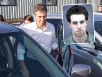 (Inset: Beto O'Rourke mugshot) CONWAY, NH - MARCH 20: Democratic presidential candidate Beto O'Rourke gets back into a minivan following a meet and greet at Tuckerman Brewing on March 20, 2019 in Conway, New Hampshire. After losing a long-shot race for U.S. Senate to Ted Cruz (R-TX), the 46-year-old O'Rourke …