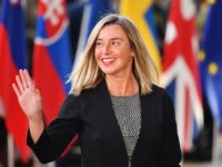 BRUSSELS, BELGIUM - APRIL 10: EU's High representative for foreign affairs and security policy Federica Mogherini arrives ahead of a European Council meeting on Brexit at The Europa Building at The European Parliament on April 10, 2019 in Brussels, Belgium.Theresa May formally presents her case to the European Union for …