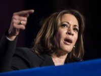 WASHINGTON, DC - APRIL 10: Sen. Kamala Harris (D-CA) speaks during the North American Building Trades Unions Conference at the Washington Hilton April 10, 2019 in Washington, DC. Many Democrat presidential hopefuls attended the conference in hopes of drawing the labor vote. (Photo by Zach Gibson/Getty Images)