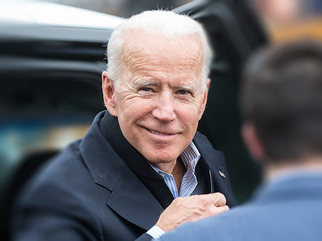 DORCHESTER, MA - APRIL 18: Former Vice President Joe Biden arrives in front of a Stop & Shop in support of striking union workers on April 18, 2019 in Dorchester, Massachusetts. Thousands of unionized Stop & Shop workers across New England walked off the job last week in an ongoing …