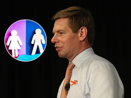 SUNRISE, FLORIDA - APRIL 09: Rep. Eric Swalwell (D-CA), who announced that he is running for president in 2020 speaks during a gun violence town hall at the BB&T Center on April 09, 2019 in Sunrise, Florida. Rep. Swalwell held the town hall not far from Marjory Stoneman Douglas high …