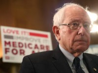 "WASHINGTON, DC - APRIL 10: Sen. Bernie Sanders (I-VT) speaks while introducing health care legislation titled the ""Medicare for All Act of 2019"", during a news conference on Capitol Hill, on April 9, 2019 in Washington, DC. (Photo by Mark Wilson/Getty Images)"