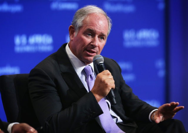 "WASHINGTON, DC - AUGUST 05: CEO and co-founder of Blackstone Stephen Schwarzman participates in a session of the U.S.-Africa Business Forum on ""Powering Africa: Leading Developments In Infrastructure,"" during the U.S.-Africa Leaders Summit at the Mandarin Oriental Hotel August 5, 2014 in Washington, DC. The three-day-long summit is to strengthen …"