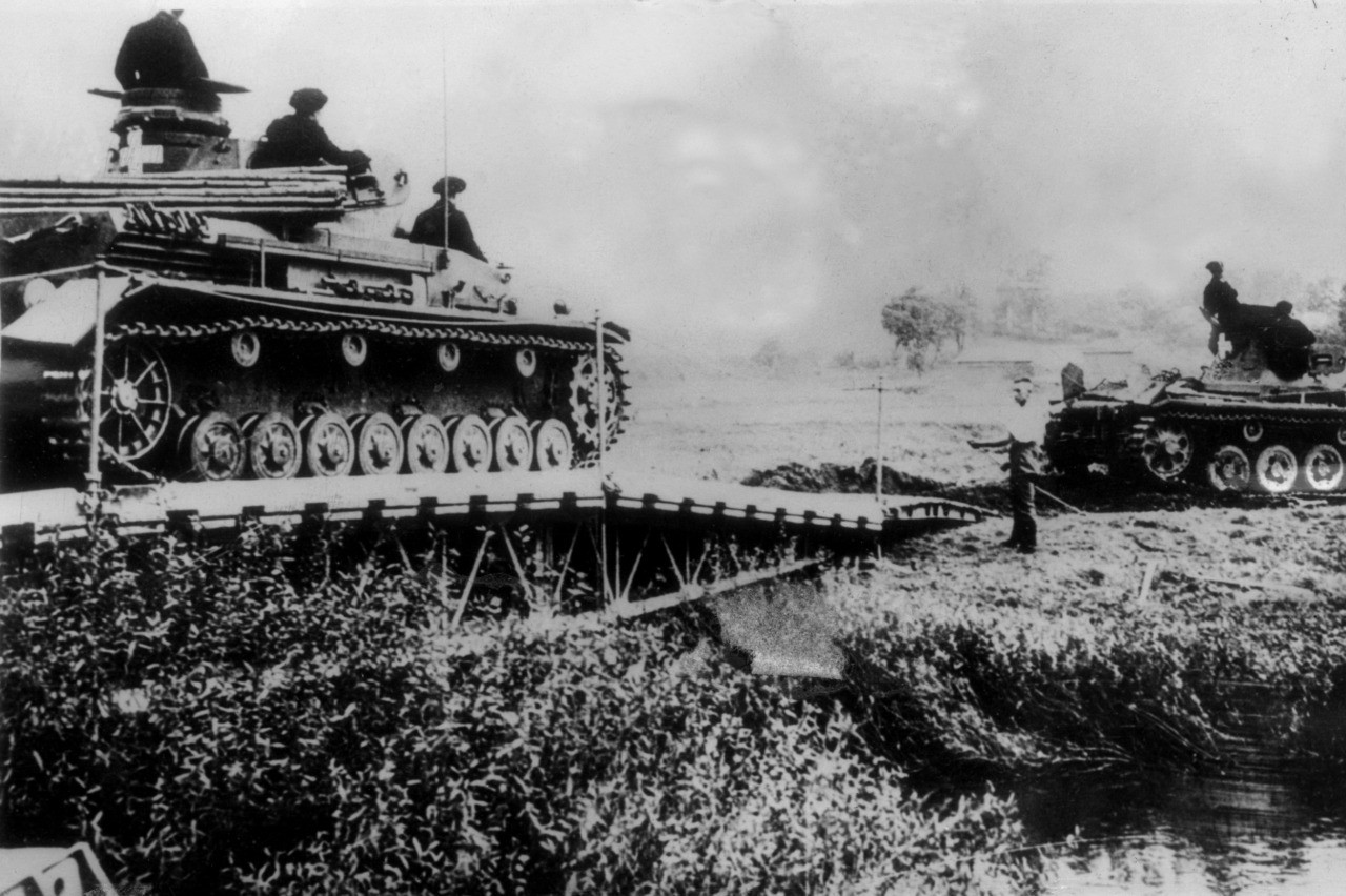 German tanks cross a river into Polish territory on 06 September 1939 . (AFP/Getty Images)