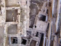 JERUSALEM, ISRAEL - UNDATED: In this handout image supplied by the Israel Antiquities Authority, an aerial view shows the Givati Parking Lot Excavation site in the City of David's Jerusalem Walls National Park in Jerusalem, Israel. Archaeologists who have discovered a 2,000-year-old semi-precious cameo bearing the image of Cupid at …