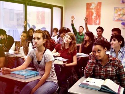 Highschool students, textbooks