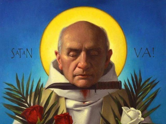 Father Jacques Hamel. Painting by Neilson Carlin
