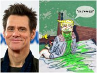 Jim Carrey Draws Vomit-Mouth Trump: 'Definitely Not Exonerated'