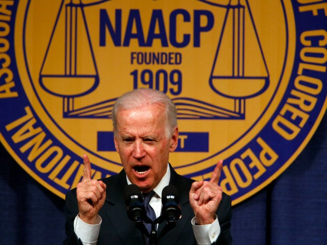Vice President Joe Biden speaks at the NAACP Fight for Freedom Fund Dinner in Detroit, Sunday, May 3, 2015. (Photo/Paul Sancya)