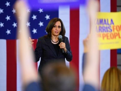 NORTH LAS VEGAS, NEVADA - MARCH 01: U.S. Sen. Kamala Harris (D-CA) speaks during a town hall meeting at Canyon Springs High School on March 1, 2019 in North Las Vegas, Nevada. Harris is campaigning for the 2020 Democratic nomination for president. (Photo by Ethan Miller/Getty Images)