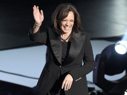 Sen. Kamala Harris, D-Calif., appears on stage at the 50th annual NAACP Image Awards on Saturday, March 30, 2019, at the Dolby Theatre in Los Angeles. (Photo by Chris Pizzello/Invision/AP)