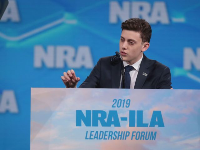 INDIANAPOLIS, INDIANA - APRIL 26: Kyle Kashuv, a Marjory Stoneman Douglas High School student speaks during the NRA-ILA Leadership Forum at the 148th NRA Annual Meetings & Exhibits on April 26, 2019 in Indianapolis, Indiana. The convention, which runs through Sunday, features more than 800 exhibitors and is expected to …