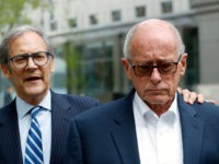 Former Rochester Drug Co-Operative CEO Laurence Doud III, right, leaves US. District Court in Manhattan with his attorney Robert C. Gottlieb, Tuesday, April 23, 2019, in New York. The former head of a drug distributor has been indicted on what federal prosecutors say are the first-ever criminal charges against a …
