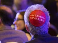 Make America Great Again Yarmulke (LAS VEGAS, NV - April 6, 2019: Trump Supporters pictured as President Donald J. Trump pictured addresses The Republican Jewish Coalition Annual Leadership Meeting at The Venetian Resort in Las Vegas, NV on April 6, 2019. Credit: Erik Kabik Photography/ MediaPunch /IPX via Associated Press)