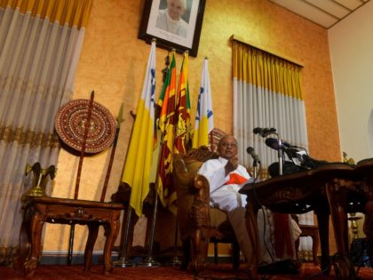 """Catholic Archbishop of Colombo, Malcolm Ranjith, speaks during a foreig media press conference in Colombo on April 26, 2019, following a series of bomb blasts targeting churches and luxury hotels on Easter Sunday in Sri Lanka. - Sri Lanka's Catholic leader said on April 26 he felt """"betrayed"""" by the …"""