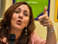 Mariela Castro Espin, daughter of Cuban President Raul Castro and director of the Cuban National Center for Sexual Education, gives a press conference, on May 5, 2014 in Havana, to launch the VII Cuban Symposium against Homophobia and Transphobia. AFP PHOTO/ADALBERTO ROQUE (Photo credit should read ADALBERTO ROQUE/AFP/Getty Images)