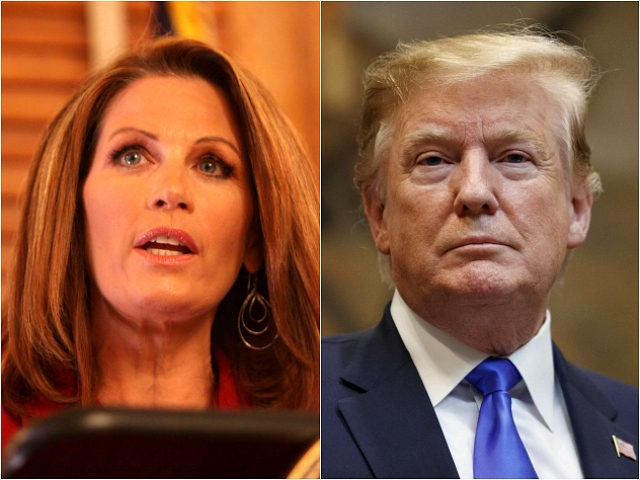 Michele Bachmann and Donald Trump
