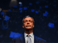 British politician and The Brexit Party leader, Nigel Farage addresses the first public rally of their European Parliament election campaign in Birmingham, central England on April 13, 2019. (Photo by Daniel LEAL-OLIVAS / AFP) (Photo credit should read DANIEL LEAL-OLIVAS/AFP/Getty Images)
