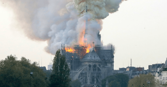 Paris: Notre-Dame Cathedral Burns