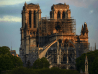 PARIS, FRANCE - APRIL 17: Notre-Dame Cathedral at sunrise following a major fire on Monday on April 17, 2019 in Paris, France. A fire broke out on Monday afternoon and quickly spread across the building, causing the famous spire to collapse. The cause is unknown but officials have said it …