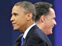 Obama, Romney Pablo Martinez MonsivaisAP
