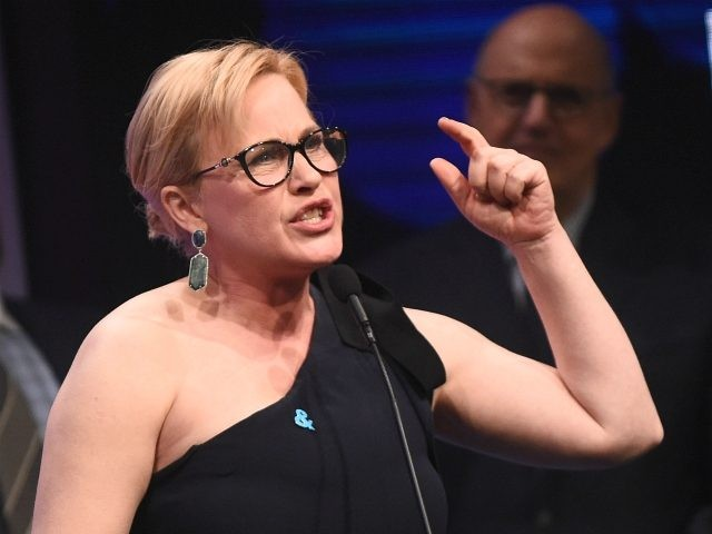 BEVERLY HILLS, CA - APRIL 01: Honoree Patricia Arquette accepts the Vanguard Award onstage during the 28th Annual GLAAD Media Awards in LA at The Beverly Hilton Hotel on April 1, 2017 in Beverly Hills, California. (Photo by Emma McIntyre/Getty Images for GLAAD)
