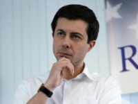 Sound Bend, Indiana Mayor Pete Buttigieg during a stop in Raymond, N.H., Saturday, Feb. 16, 2019. (AP Photo/Charles Krupa)