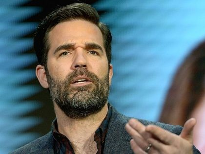 PASADENA, CA - JANUARY 11: Actor Rob Delaney speaks onstage during the Catastrophe panel at the Amazon Winter 2016 Television Critics Association Session at Langham Hotel on January 11, 2016 in Pasadena, California. (Photo by Charley Gallay/Getty Images for Amazon Studios)
