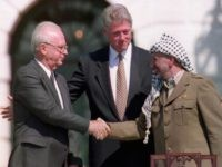 Rabin Clinton Arafat (FILES/J. David AKE/AFP/Getty Images)