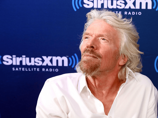 NEW YORK, NY - OCTOBER 18: Sir Richard Branson participates in a SiriusXM 'Town Hall' Event hosted by Dan Rather on October 18, 2017 in New York City. (Photo by Astrid Stawiarz/Getty Images for SiriusXM)