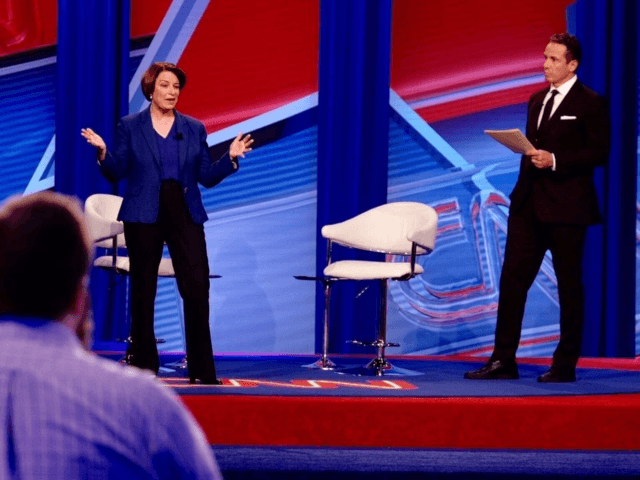 Manchester, N.H. - Minnesota Sen. Amy Klobuchar urged a more cautious approach than many of her Democratic rivals on impeachment, health care, college tuition, and student loans on Monday night in New Hampshire.