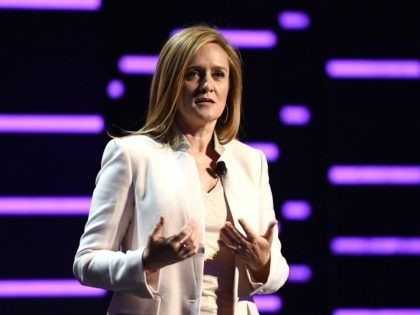 NEW YORK, NEW YORK - MAY 18: Comedian Samantha Bee appears on stage appears on stage during Turner Upfront 2016 show at The Theater at Madison Square Garden on May 18, 2016 in New York City. (Photo by Nicholas Hunt/Getty Images for Turner)