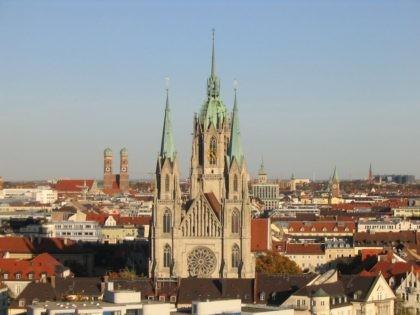 Saint Paul's church in Munich, photographed October 2004.