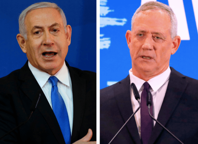 Benjamin Netanyahu and Benny Gantz (Gali Tibbon / Jack Guez / AFP / Getty)