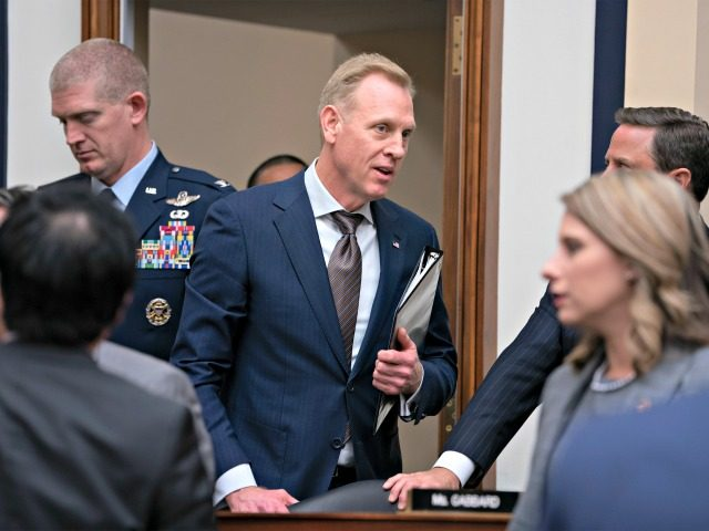 Acting Defense Secretary Patrick Shanahan arrives to testify at a House Armed Services Committee hearing on the fiscal year 2020 Pentagon budget, on Capitol Hill in Washington, Tuesday, March 26, 2019. Lawmakers are concerned about military construction projects that could lose funding to pay for President Donald Trump's border wall. …