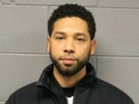 CHICAGO, IL - FEBRUARY 21: In this handout provided by the Chicago Police Department, Jussie Smollett poses for a booking photo after turning himself into the Chicago Police Department on February 21, 2019 in Chicago, Illinois. The 36-year-old 'Empire' star is facing a class four felony charge for filing a …