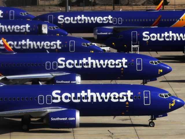 Southwest Airlines jets grounded