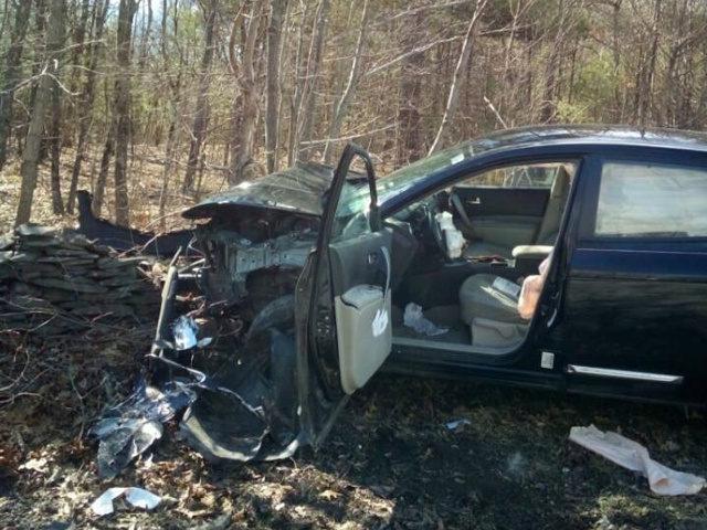 Spider car wreck