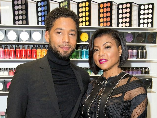 CHICAGO, IL - FEBRUARY 13: M.A.C. Viva Glam Spokespeople (R) Taraji P. Henson & (L) Jussie Smollett meet fans at M.A.C. Michigan Avenue Store in Chicago on February 13, 2017 in Chicago, Illinois. (Photo by Jeff Schear/Getty Images for M.A.C. Cosmetics)