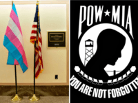Transgender Flags Replace POW-MIA flag