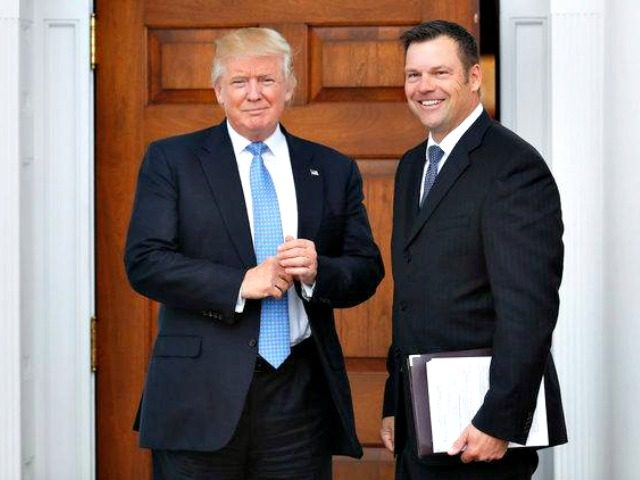 President Trump in 2016 with Kris Kobach, the Kansas secretary of state who went on to become a member of the White House voter fraud commission.CreditCreditCarolyn Kaster/Associated Press