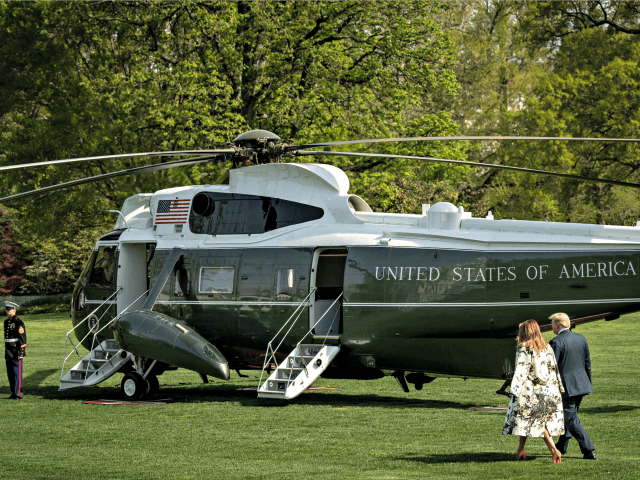 WASHINGTON, DC - APRIL 18: U.S. President Donald Trump and First Lady Melania Trump walk on the South Lawn while departing the White House for a weekend trip to Mar-A-Lago, April 18, 2019 in Washington, DC. Today the Department of Justice released special counsel Robert Mueller's redacted report on Russian …