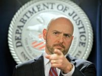 Andrew Lelling, U.S. attorney for the District of Massachusetts, speaks during a March news conference in Boston. On Thursday, Lelling announced obstruction-of-justice charges against Newton, Massachusetts, District Court Judge Shelley M. Richmond Joseph and a former court officer for allegedly helping a man in the country illegally evade immigration officials …