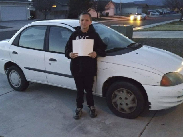 13-Year-Old Boy Buys Single Mom Car, Earns Facebook Fame