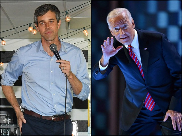 Beto O'Rourke and Joe Biden