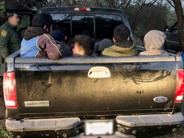 Border Patrol agents from the Laredo Sector apprehended 57 illegal aliens on a ranch near Oilton, Texas. (Photo: U.S. Border Patrol/Laredo Sector)
